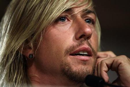 Real Madrid midfielder Guti speaks during a news conference in Madrid